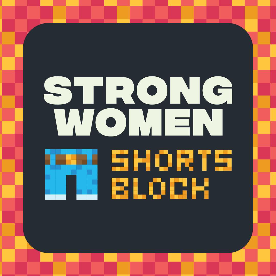 Strong Women Shorts Block